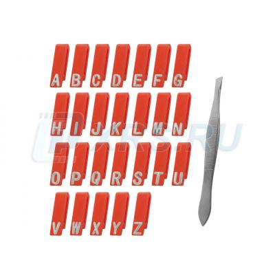 Литеры маркировочные ЭЛИТЕСТ №2 (буквы латиница)